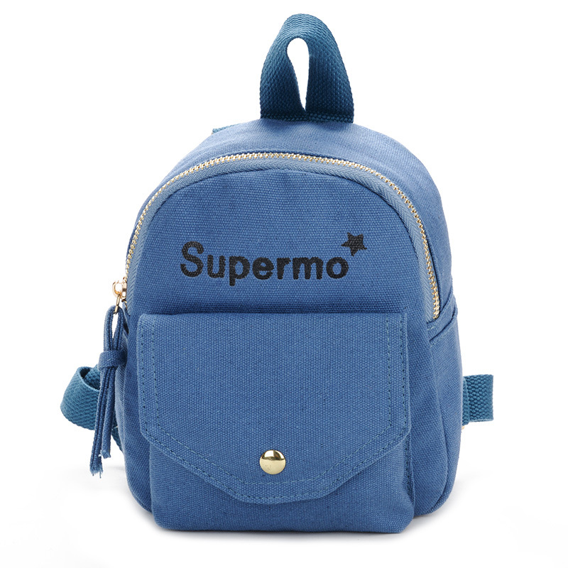 Kids Bags Boys Mini Backpack Children's Male Cute Canvas School Kindergarten