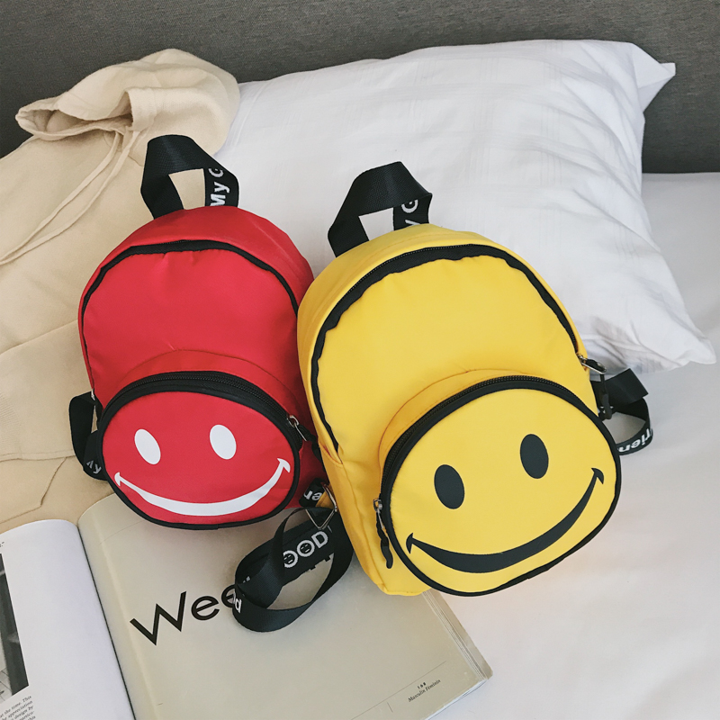 Kids Bags Boys Mini Smiley Style Cute School Male Children's Backpack Bags