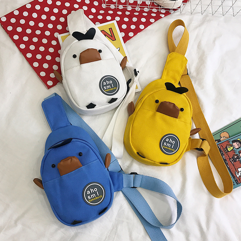Kids Bags Boys Mini Cartoon Style Cute Male Children's Messenger Shoulder Canvas