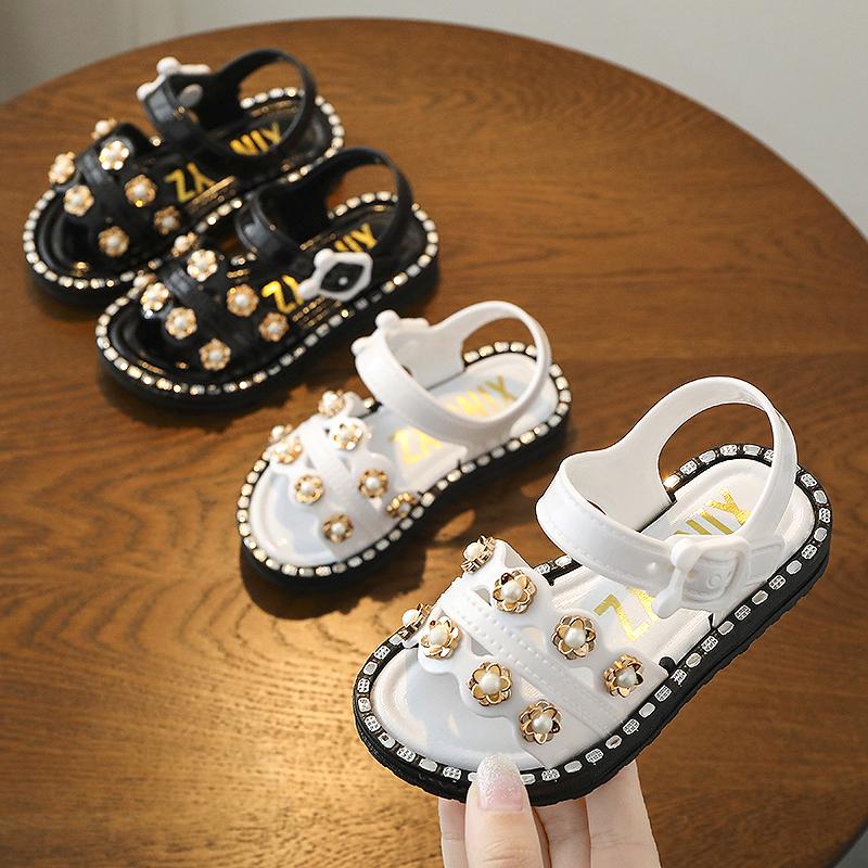 Kids Shoes Girls Flats Sandals Little Female Casual Soft Bottom Summer Footwear