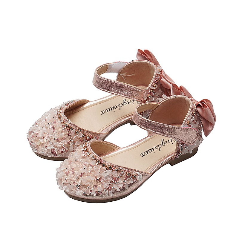 Kids Shoes Girls Children's Female Doll Shoes Flats Bow Casual Formal Footwear