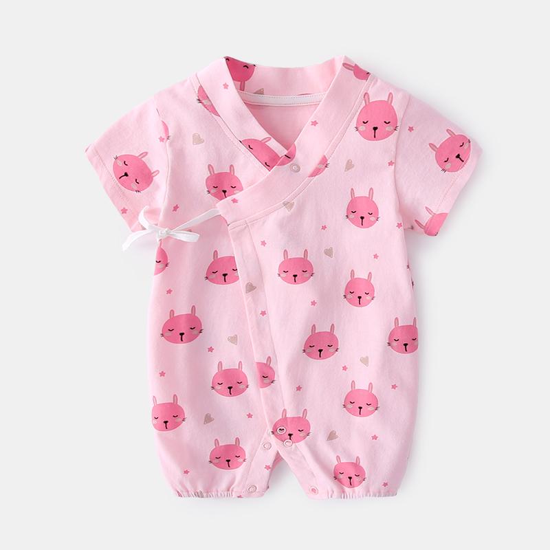 Baby Clothing Sleepwear Children\'s Night Wear Overlap Romper Cute Cotton Wear