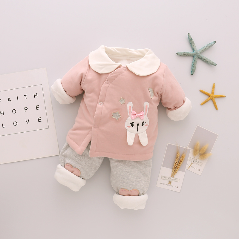 Baby Clothing Winter Wear Thick Clothes Shirts Pants Soft Cotton Children's Wear