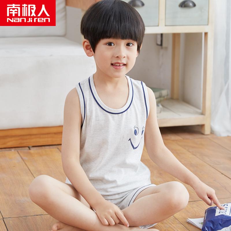 Kids Clothing Boys Sleepwear Soft Cotton Children\'s Night Wear Shirt Sleeveless