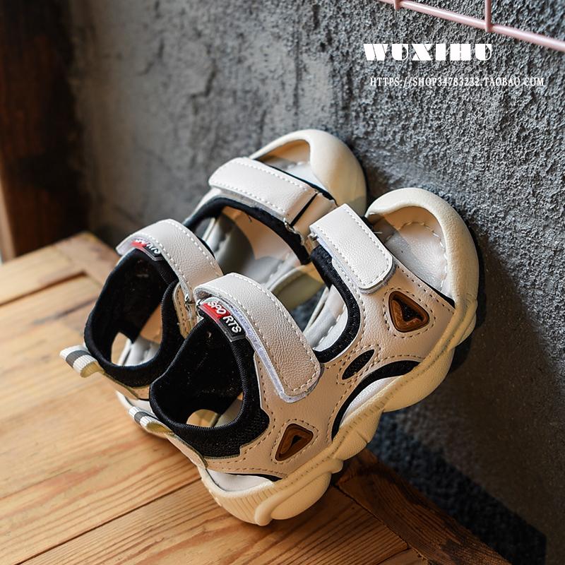 Kids Shoes Boys Children\'s Soft Bottom Rubber Sandals Casual Male Footwear