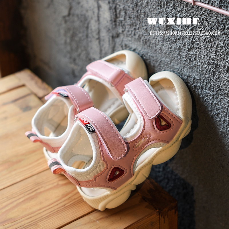 Kids Shoes Boys Children's Soft Bottom Rubber Sandals Casual Male Footwear