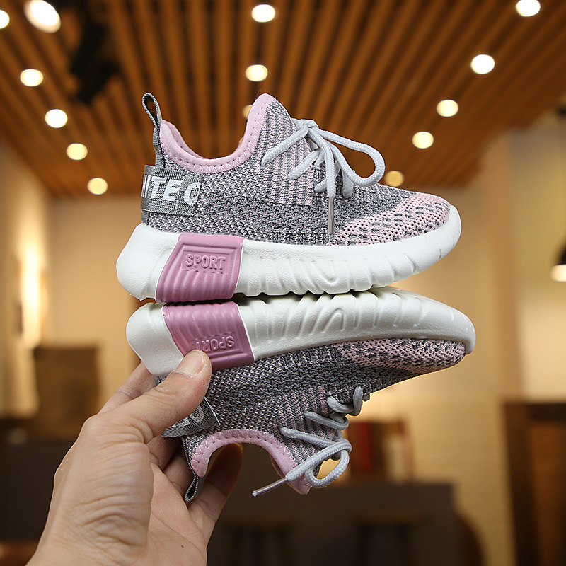 Kids Shoes Boys Running Rubber Mesh Soft Bottom Breathable Male Sneakers