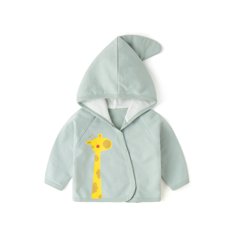 Baby Clothing Tops Long Sleeved Cartoon Casual Hooded Newborn Cotton Jacket