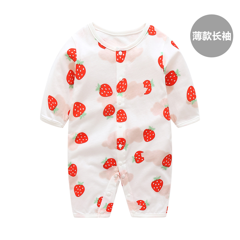 Baby Clothing Sleepwear Printed Soft Cotton Newborn Long Sleeved Rompers
