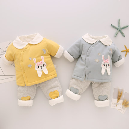 Baby Clothing Winter Wear Thick Newborn Soft Cotton Cartoon Style Warm Clothes