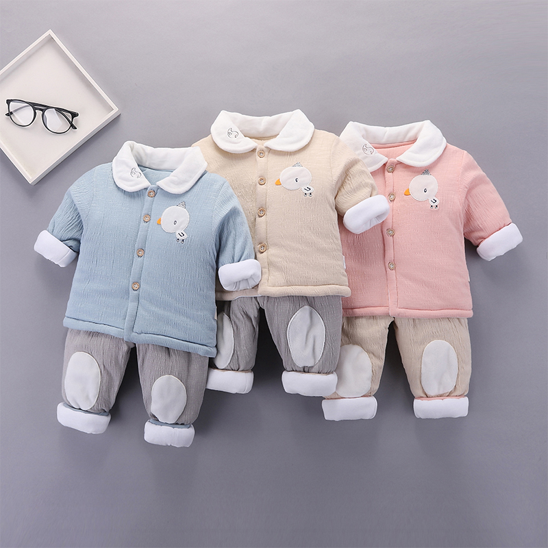 Baby Clothing Winter Wear Soft Cotton Set Cute Newborn Warm Clothes