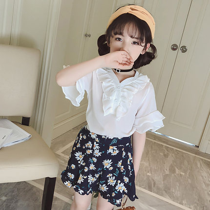 Kids Clothing Girls Tops Cotton Stylish Summer Blouse Children's Casual Outfits