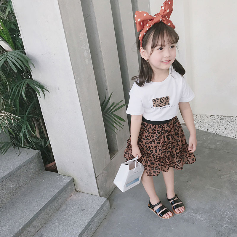 Kids Clothing Girls Bottoms Skirts Leopard Style Chiffon Children Casual Outfit