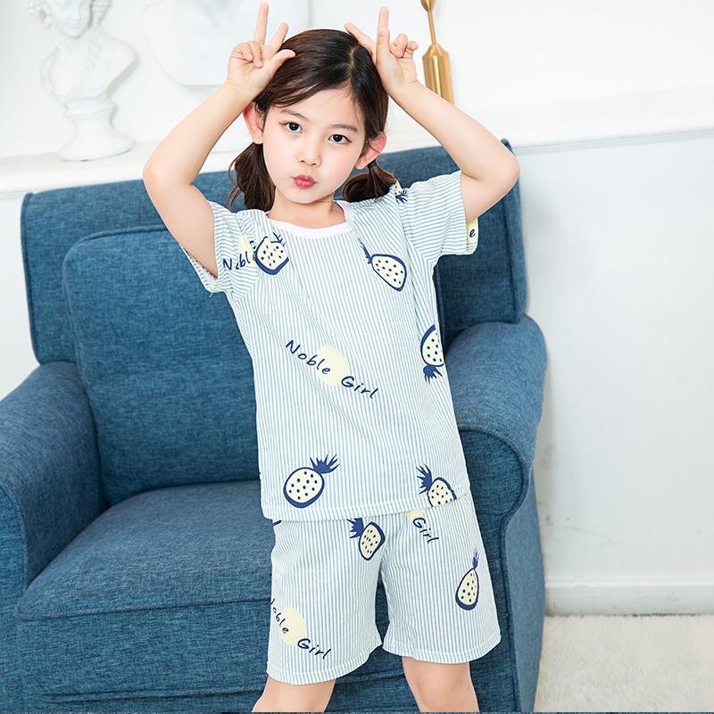 Kids Clothing Girls Sleepwear Children\'s Soft Cotton Set Comfortable Night Wear