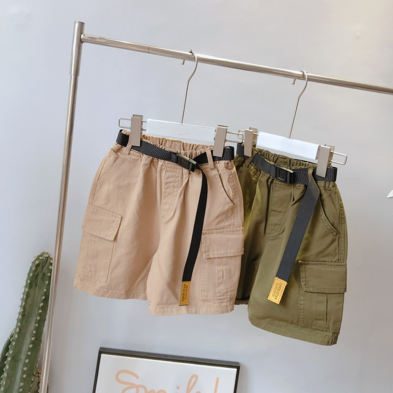 Kids Clothing Boys Bottoms Cotton Summer Male With Pockets Shorts Outwear