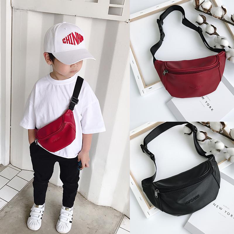 Kids Bags Boys Belt Mini Pouch Messenger Male Children's Leather Bags