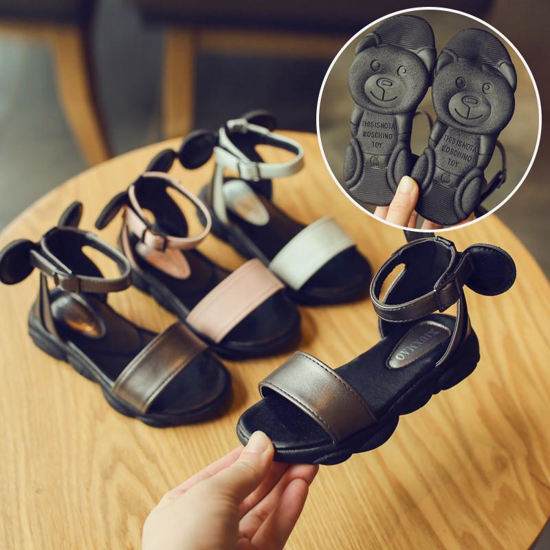 Kids Shoes Girls Little Children\'s Rubber Soft Bottom Flats Sandals Footwear