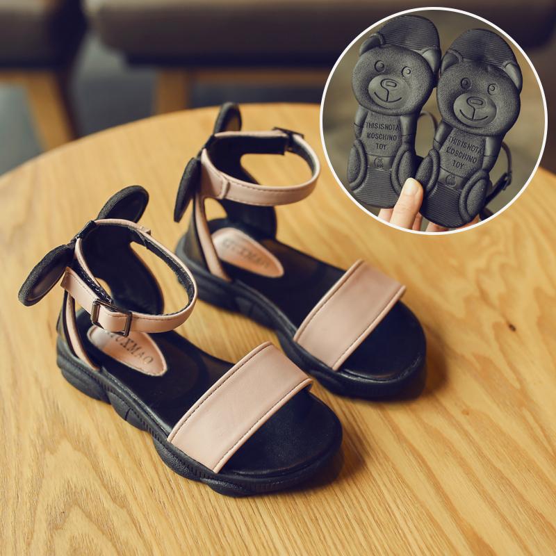 Kids Shoes Girls Little Children's Rubber Soft Bottom Flats Sandals Footwear