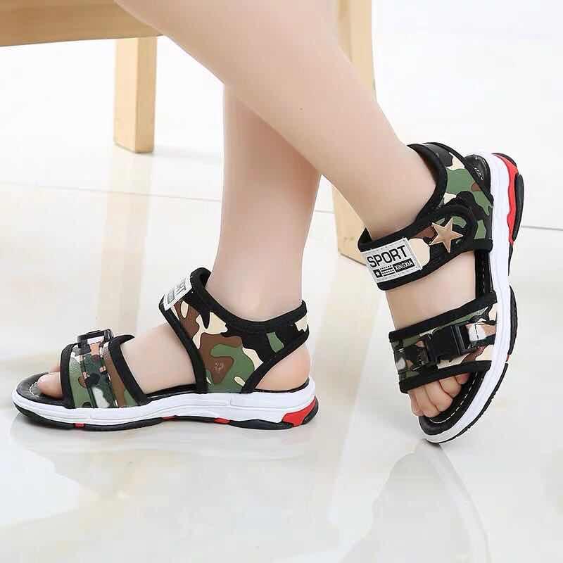 Kids Shoes Boys Male Children\'s Soft Bottom Sports Sandals Open Toe Footwear