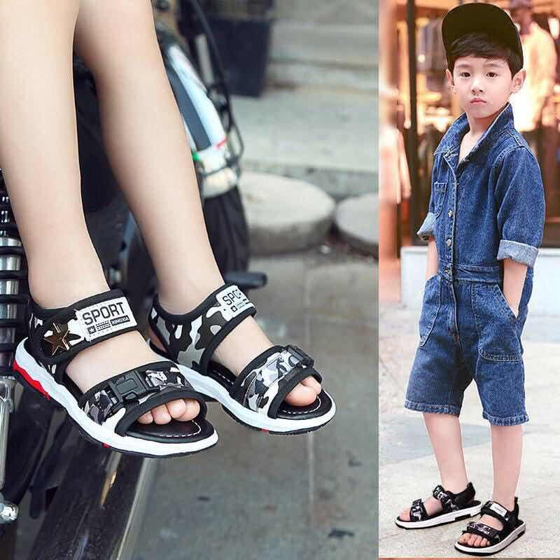 Kids Shoes Boys Male Children's Soft Bottom Sports Sandals Open Toe Footwear
