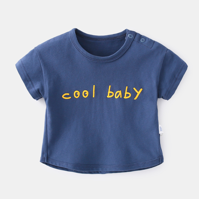 Baby Clothing Tops Short Sleeved Cotton Summer Colored Girls Printed Shirts Wear