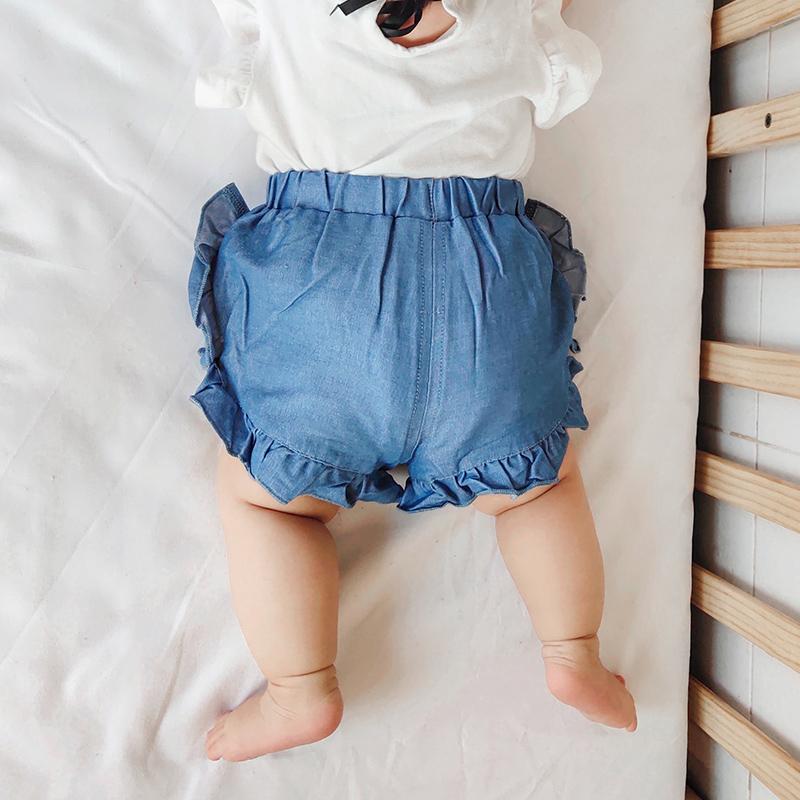 Baby Clothing Bottoms Soft Denim Newborn Shorts Summer Spring Ruffles Outwear