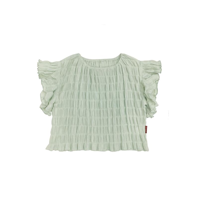 Kids Clothing Girls Tops Summer Cotton Korean Style Short Sleeved Outwear Blouse