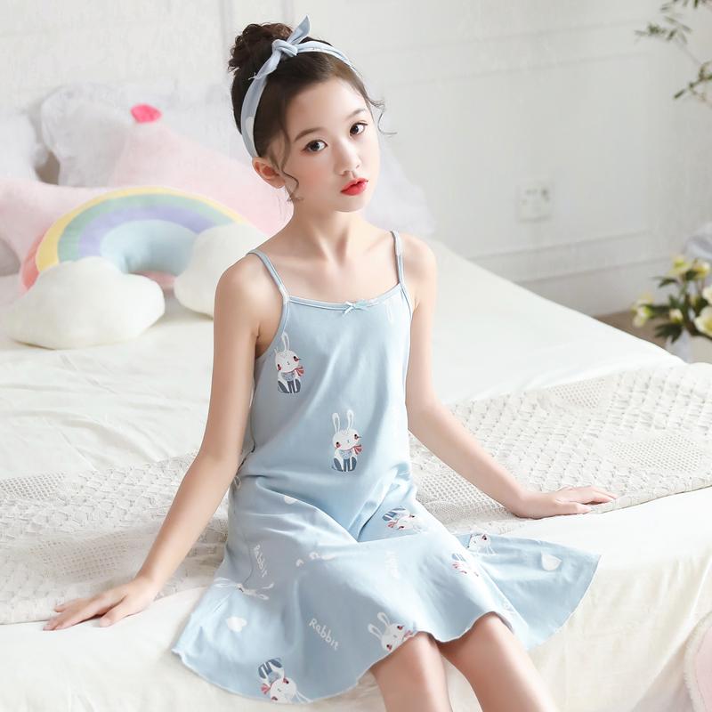 Kids Clothing Girls Sleepwear Cotton Children's Night Wear Cartoon Printed