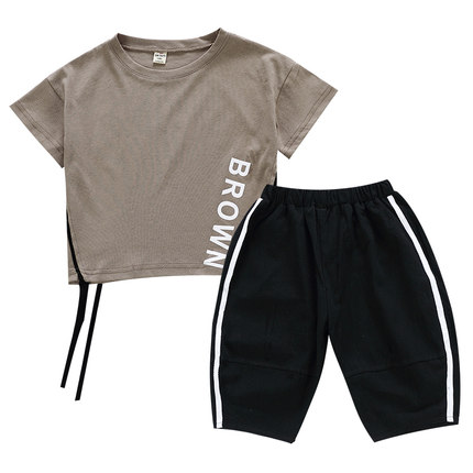 Kids Clothing Boys Set Cotton Short Sleeve Summer Pants Children\'s Male Outwear