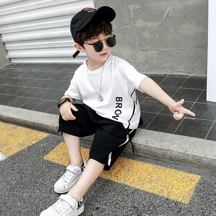 Kids Clothing Boys Set Cotton Short Sleeve Summer Pants Children's Male Outwear