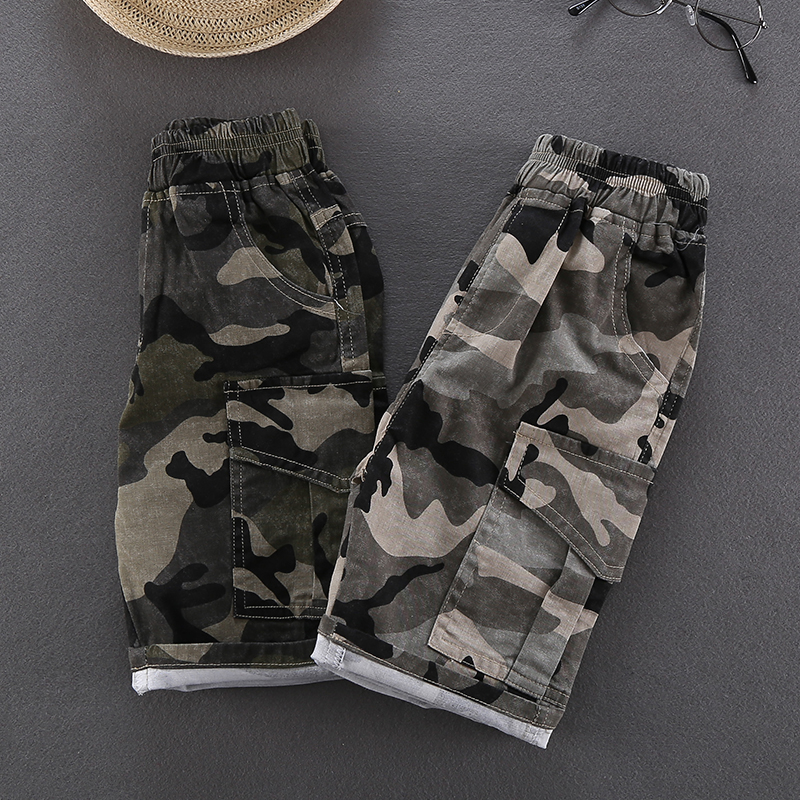 Kids Clothing Boys Bottoms Cotton Shorts Children\'s Male Camouflage Outwear