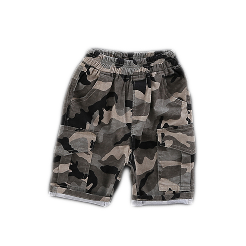Kids Clothing Boys Bottoms Cotton Shorts Children's Male Camouflage Outwear