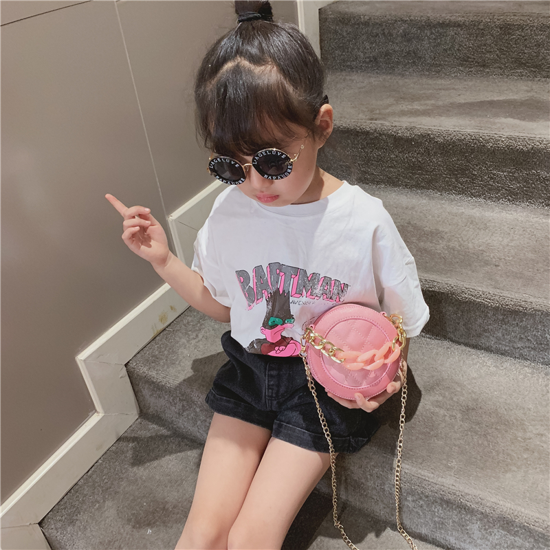 Kids Bags Girls Shoulder Sling Chain Leather Children's Cute Messenger Pouch