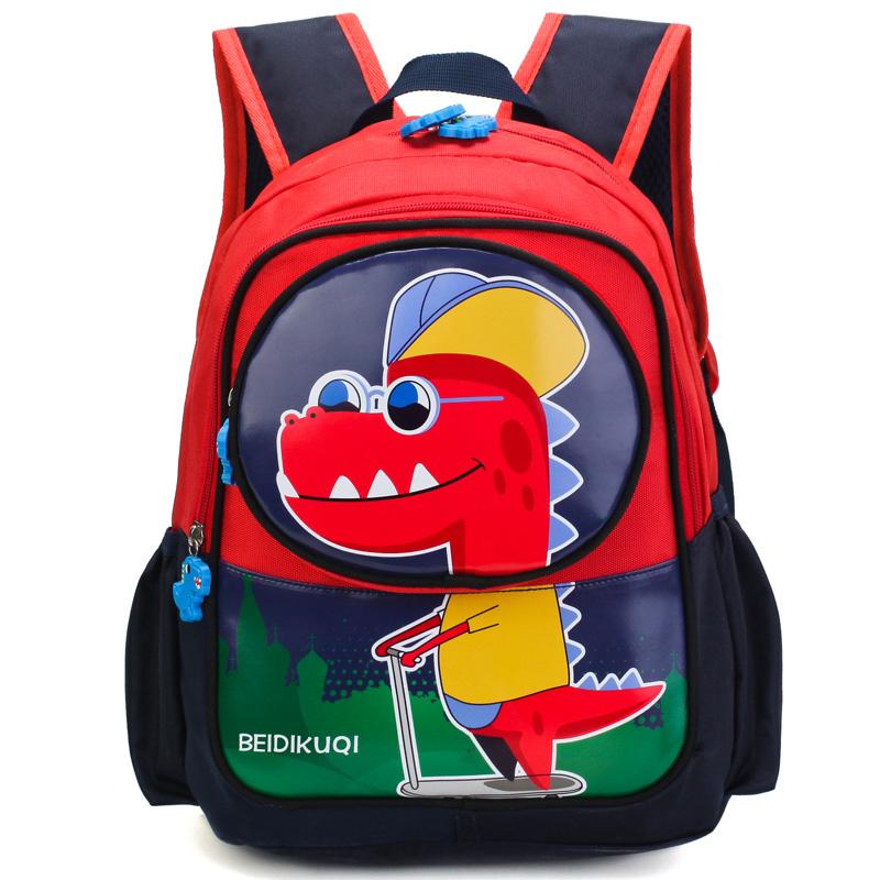 Kids Bags Boys Children's Male Cartoon Dinosaur Design School Backpack