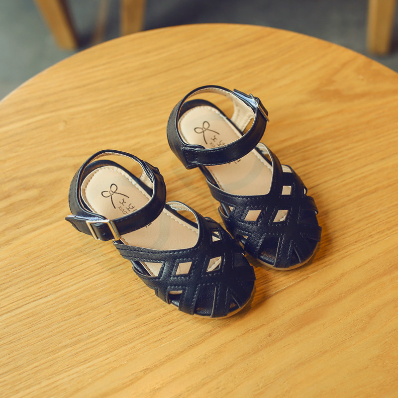 Kids Shoes Girls Flats Soft Bottom Floral Rubber Sandals Casual Female Wear