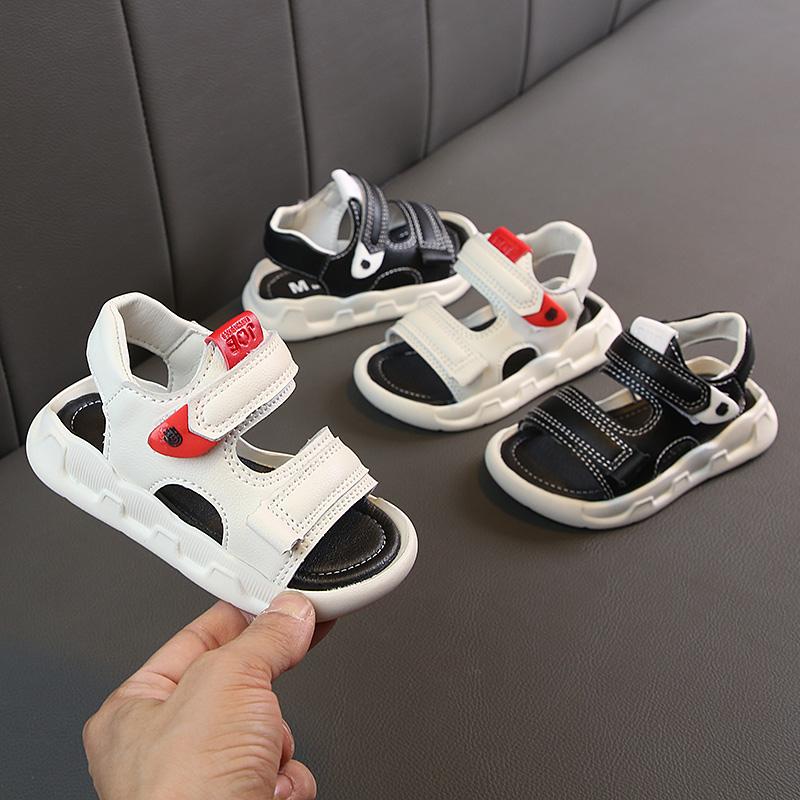 Kids Shoes Boys Male Flats Sandals Soft Bottom Children\'s Rubber Footwear
