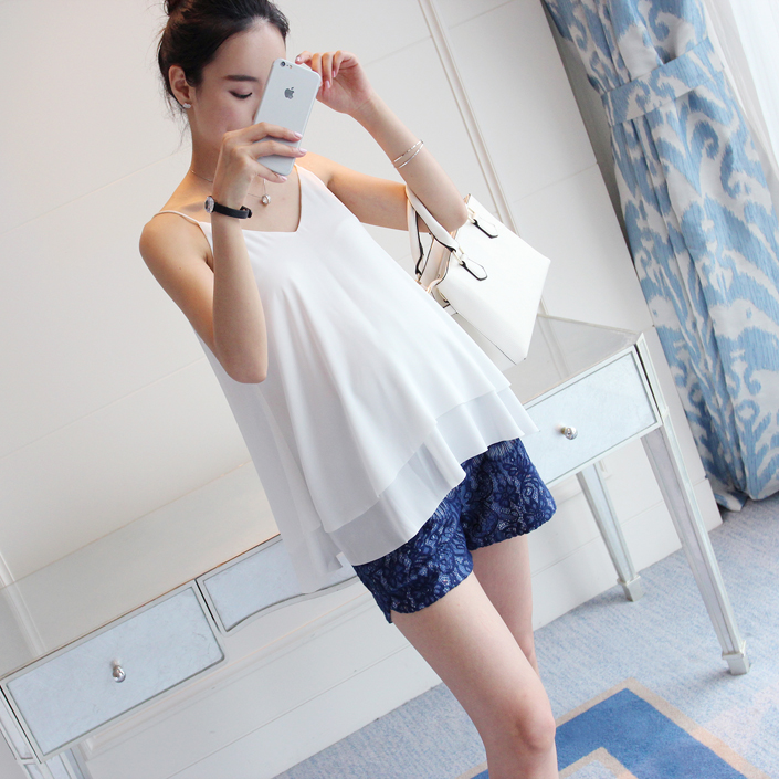Maternity Clothing Tops Summer Cotton Sleeveless Korean Style Pregnancy Wear