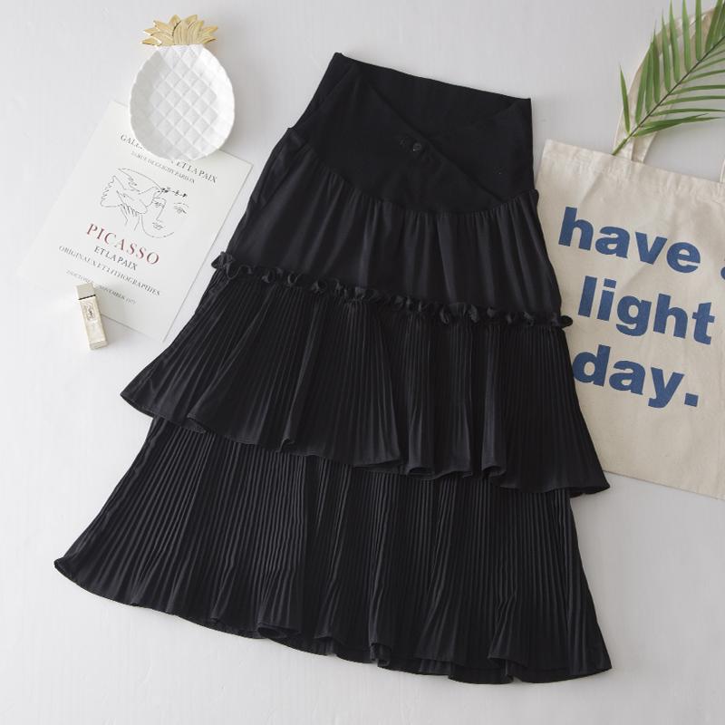 Maternity Clothing Skirts Long Ruffled Stomach Lift Pregnancy Fashion Wear