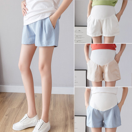 Maternity Clothing Shorts Summer Spring Stomach Lift Cotton Pregnancy Outfits