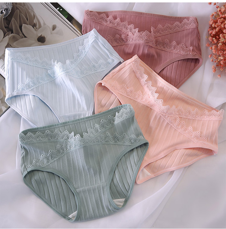 Maternity Clothing Underwear Low Waist Soft Cotton Lace Quality Pregnancy Wear