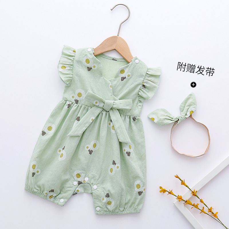 Baby Clothing Dress Set Newborn Cotton Floral Summer Spring Romper Jumpsuit