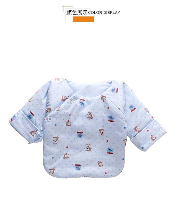 Baby Clothing Tops Newborn Summer Spring Long Sleeved Overlap Cotton Clothes