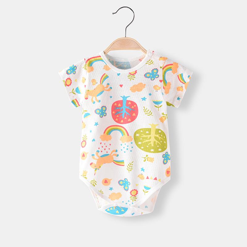 Baby Clothing Sleepwear Summer Soft Cotton Newborn Printed Clothes Night Wear