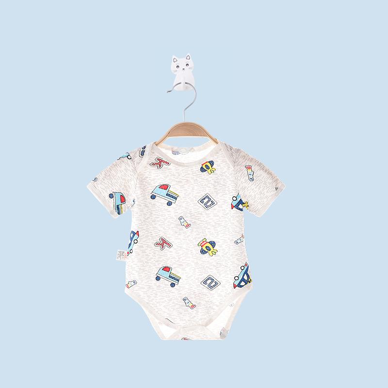Baby Clothing Sleepwear Cotton Summer Round Neck Romper Jumpsuit Newborn Wear