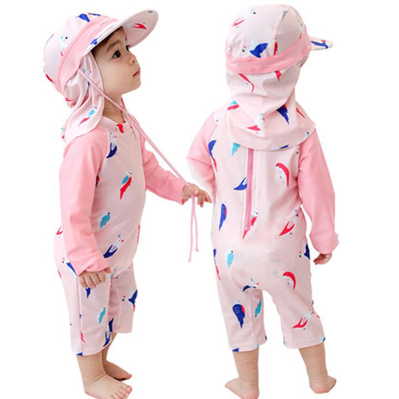 Baby Clothing Swimwear Children's Beach Summer Wear Long Sleeved Printed Wear