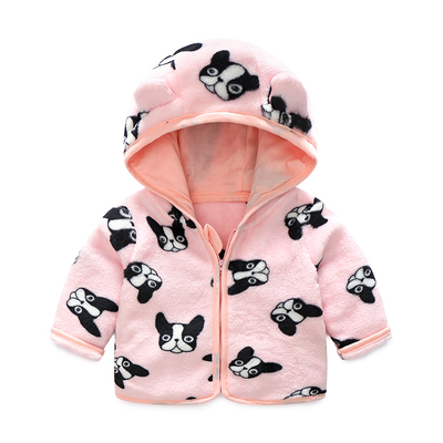 Baby Clothing Winter Wear Thick Clothes Newborn Cartoon Printed Sweater