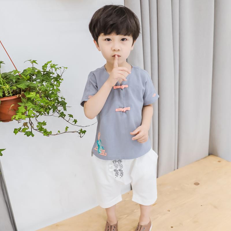 Kids Clothing Set Boys Children Summer Spring T- Shirts Sleeveless Shorts Wear