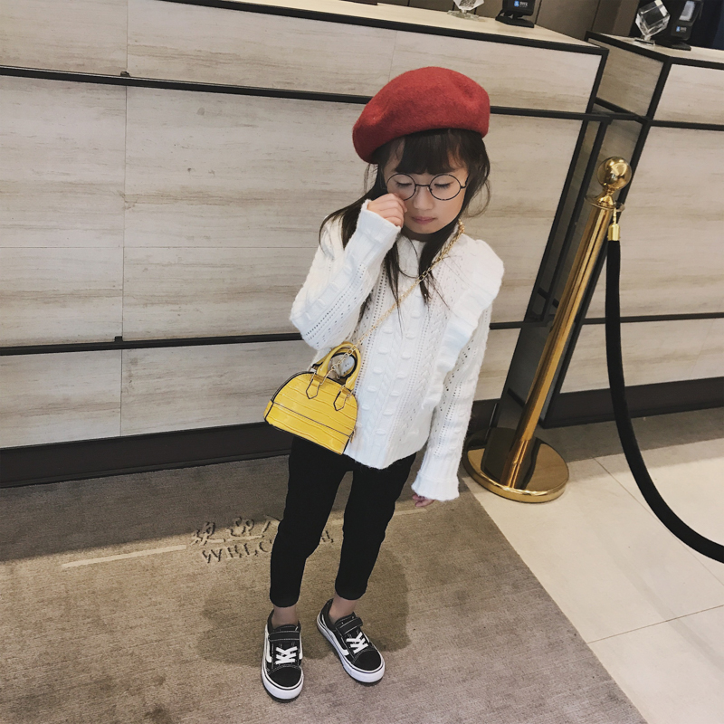 Kids Bags Girls Shoulder Sling Chain Synthetic Leather Children's Cute Messenger