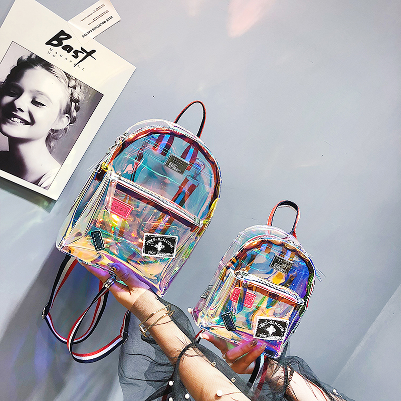 Kids Bags Girls Backpack Transparent Mini Large School Children's Bag