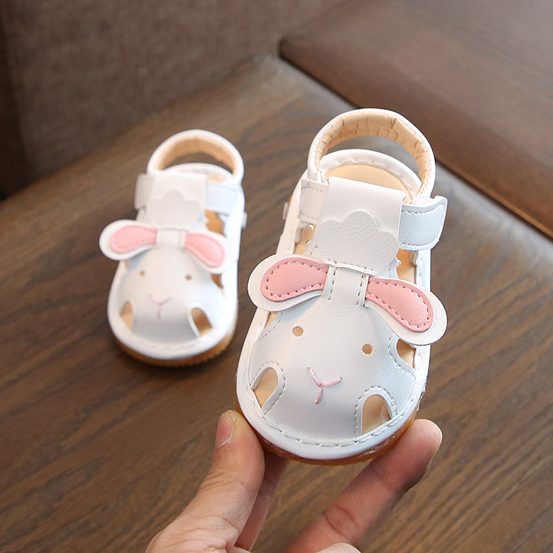 Kids Shoes Girls Rubber Soft Bottom Cartoon Bunny Sandals Footwear